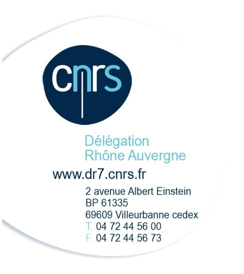 CNRS Délégation Rhône Auvergne - DR7